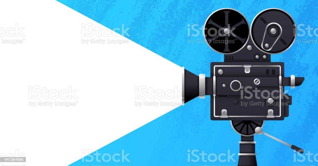 Movie and Film Banner vector art illustration