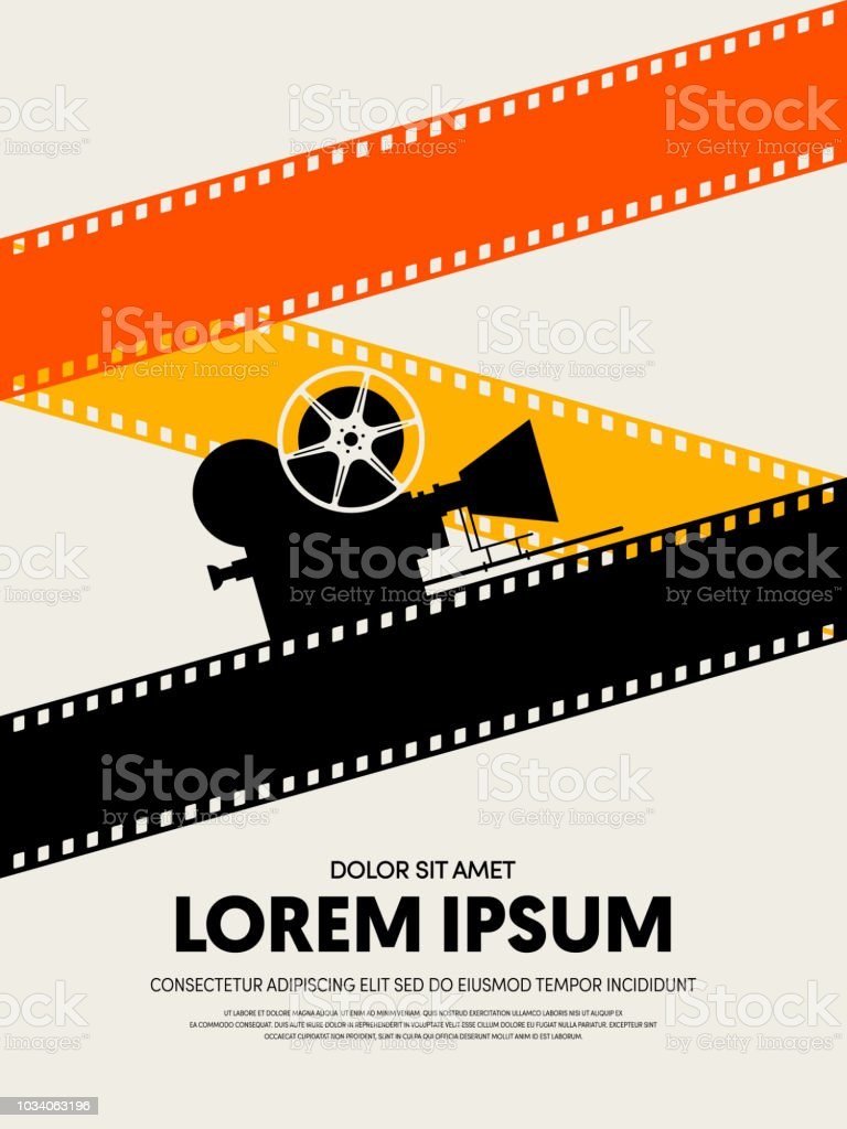 movie and film festival poster template design modern retro vintage