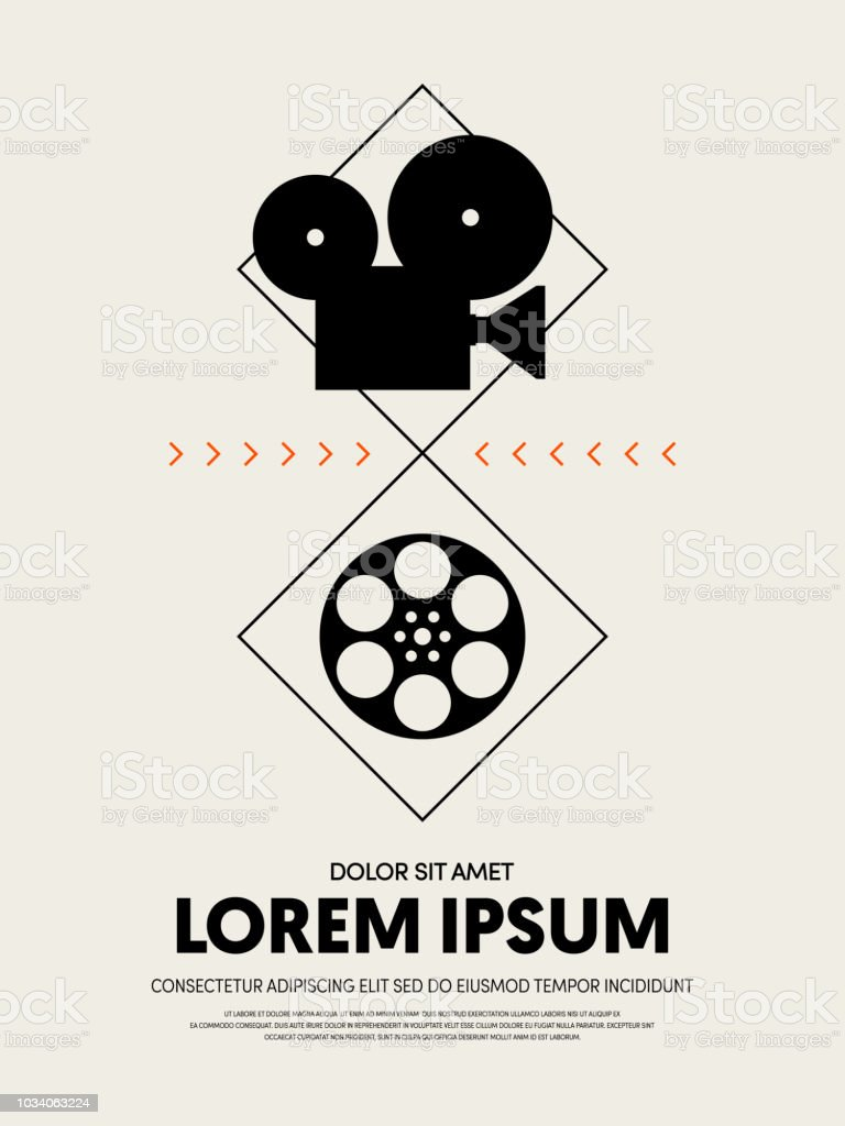 Movie And Film Festival Poster Template Design Modern Retro Vintage