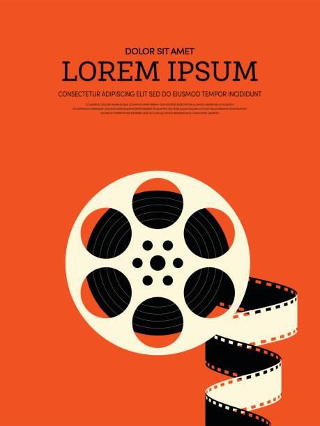 ilustraciones, imágenes clip art, dibujos animados e iconos de stock de fondo de cartel vintage retro moderno película y cine - cine