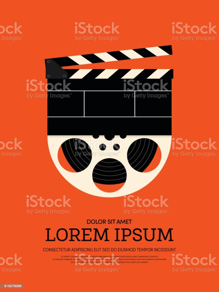 Movie And Film Modern Retro Vintage Poster Background Stock Vector ...