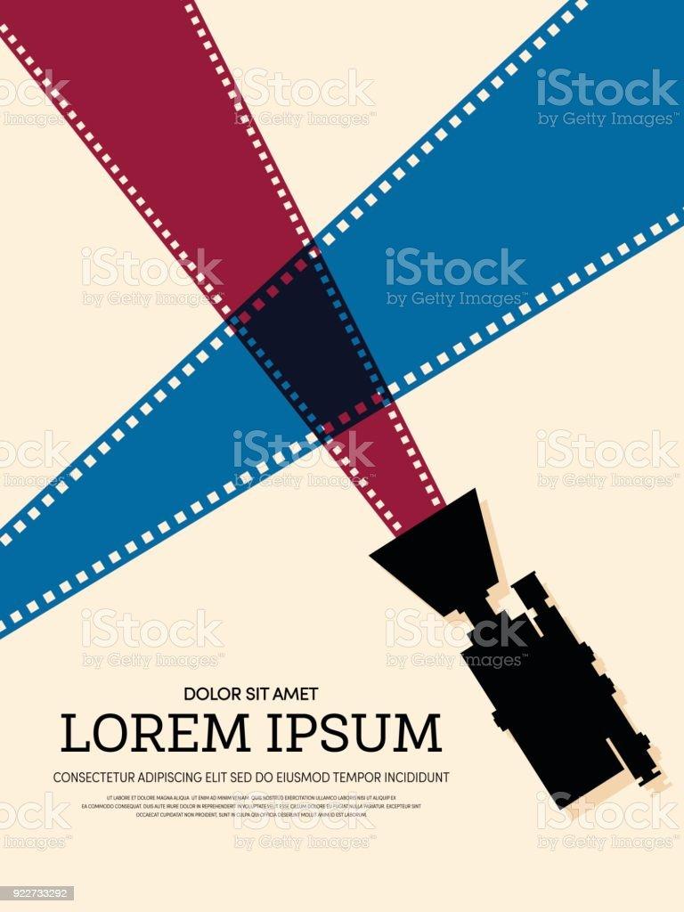 movie and film modern retro vintage poster background royalty free movie and film modern retro