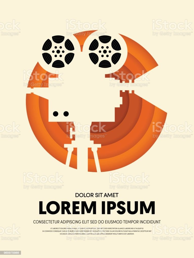 Movie and film modern retro vintage poster template background - Royalty-free Abstract stock vector