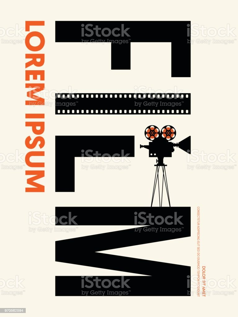 Movie And Film Modern Retro Vintage Poster Template Background Stock