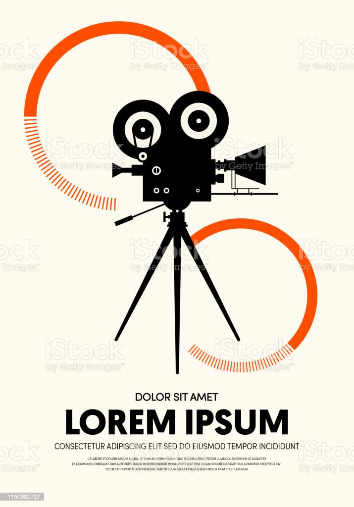 Movie and film poster modern vintage retro style. Graphic design...