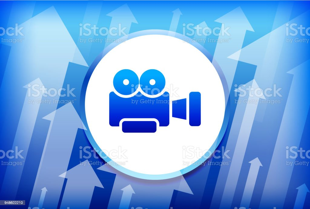 Movie Camera Blue Up Arrows Background Stock Vector Art More