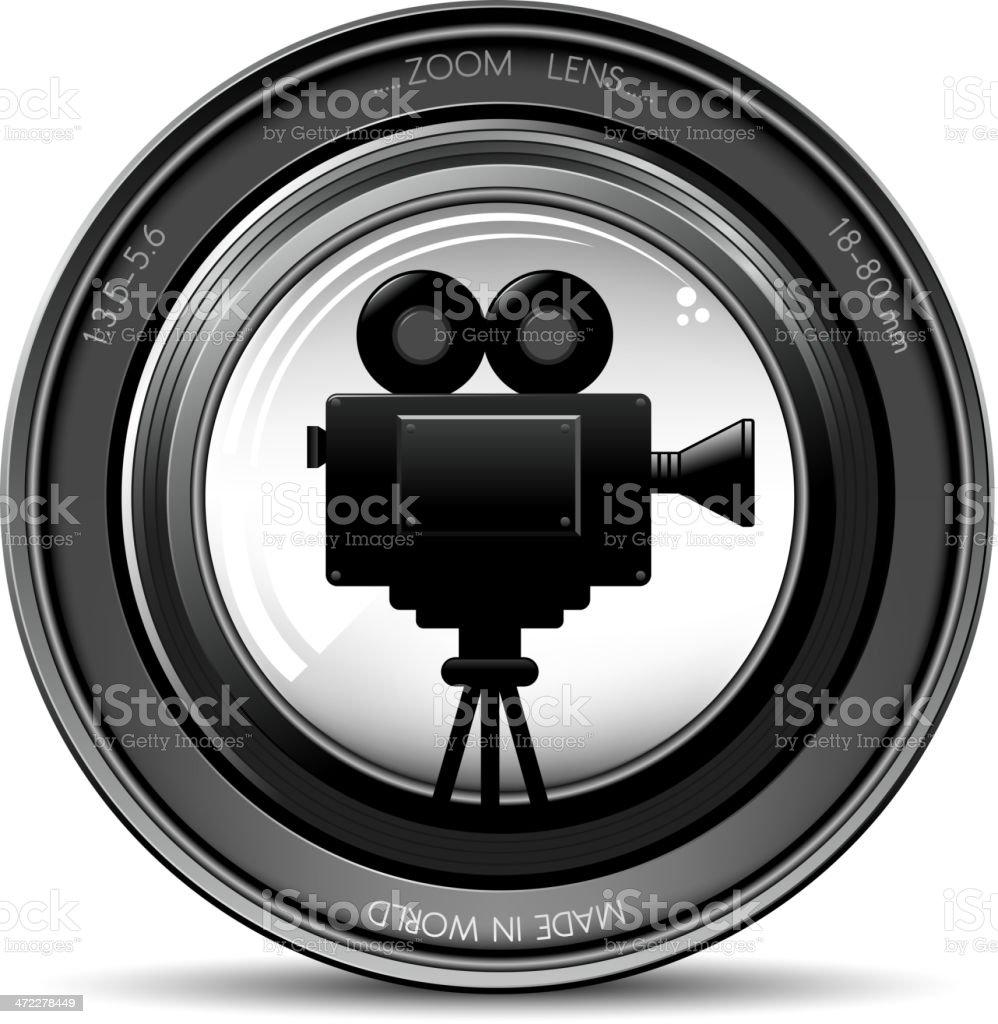 movie camera in zoom royalty-free stock vector art