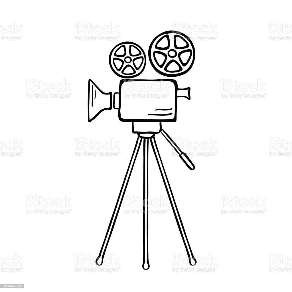 Movie camera isolated vector. vector art illustration
