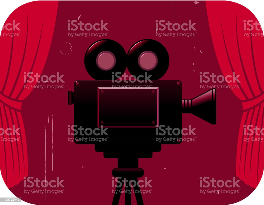 movie camera on stage royalty-free movie camera on stage stock vector art & more images of antique