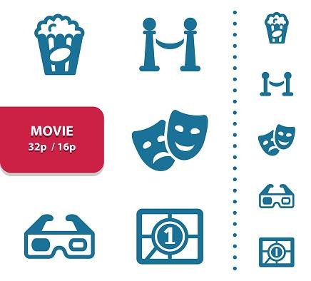 Movie, Cinema, Film Icons