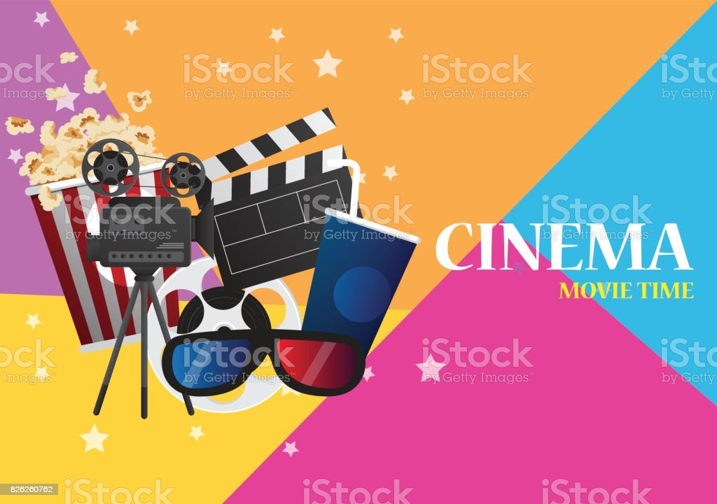 movie cinema poster design vector template banner for show with