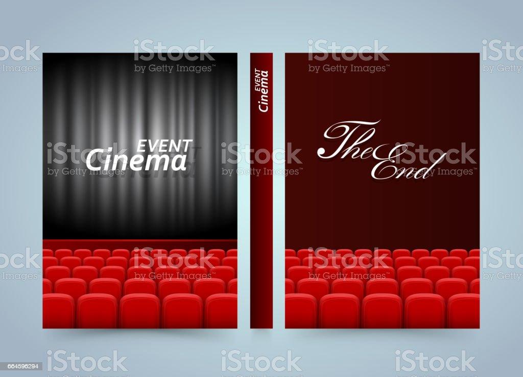 Movie Cinema Premiere Poster Design Banner Film Book A4 Size Paper Template