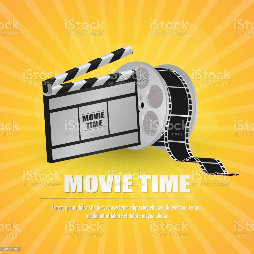 Filmschindeln Mit Moviestreifen Auf Gelbem ...