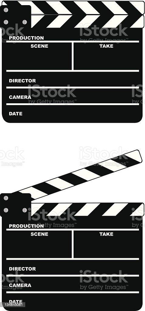 Movie clapper board vector art illustration