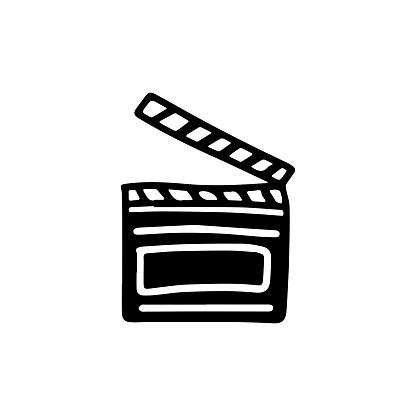 Movie clapper icon.