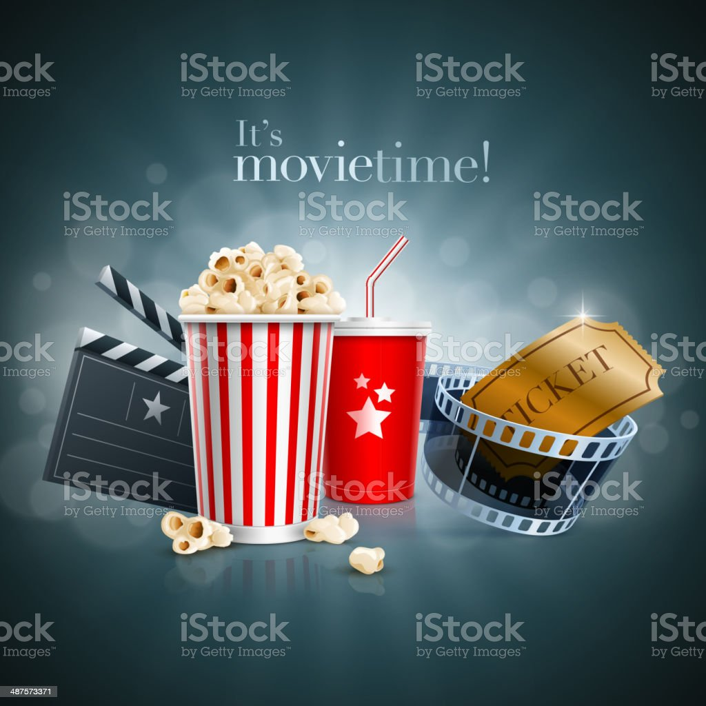Movie concept vector art illustration