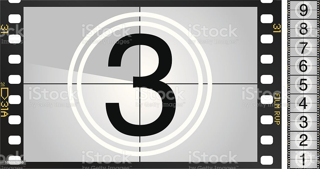 Movie Countdown vector art illustration