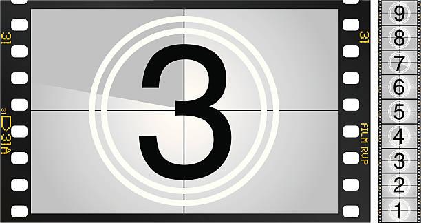 film countdown - film stock-grafiken, -clipart, -cartoons und -symbole