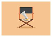 movie director chair simple icon
