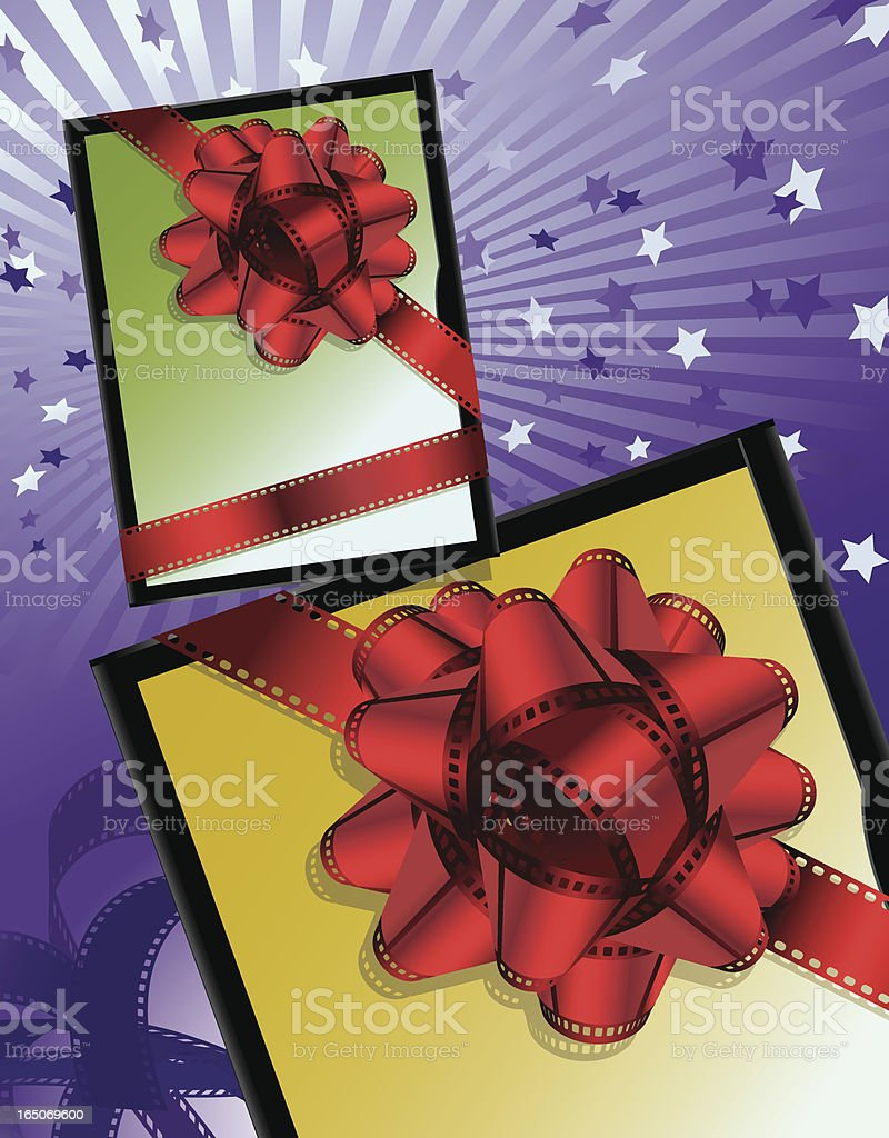 Movie DVD Case with Film Stripes Ribbon Vector royalty-free movie dvd case with film stripes ribbon vector stock vector art & more images of arts culture and entertainment