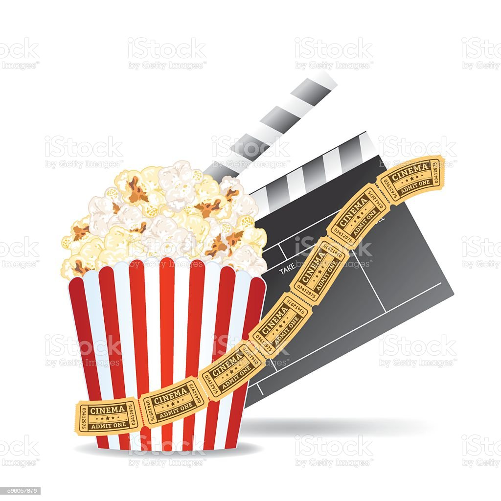 Movie Elements On A White Background royalty-free movie elements on a white background stock vector art & more images of arts culture and entertainment