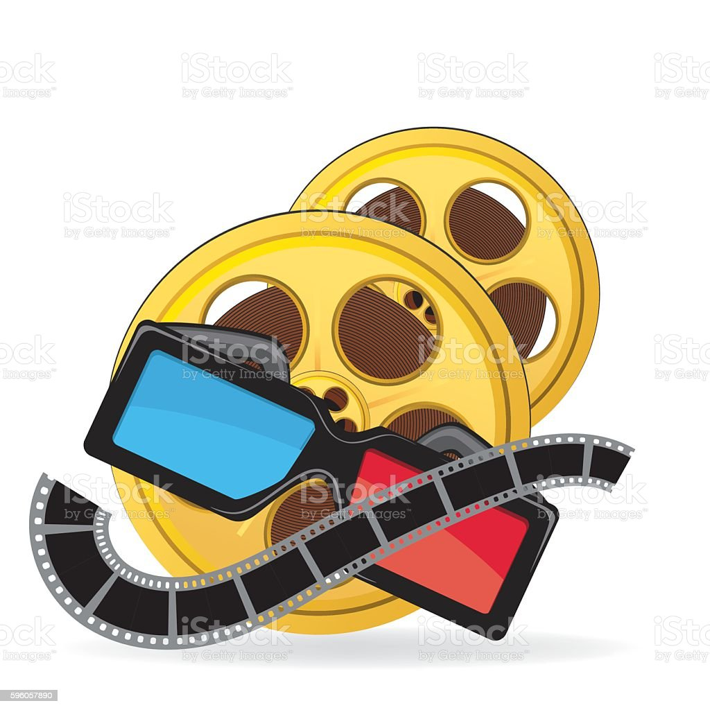 Movie Elements On A White Background royalty-free movie elements on a white background stock vector art & more images of 3-d glasses