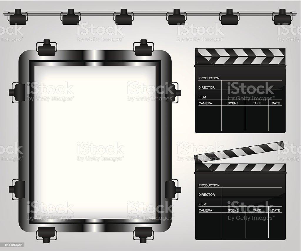 Movie equipment illustration royalty-free stock vector art