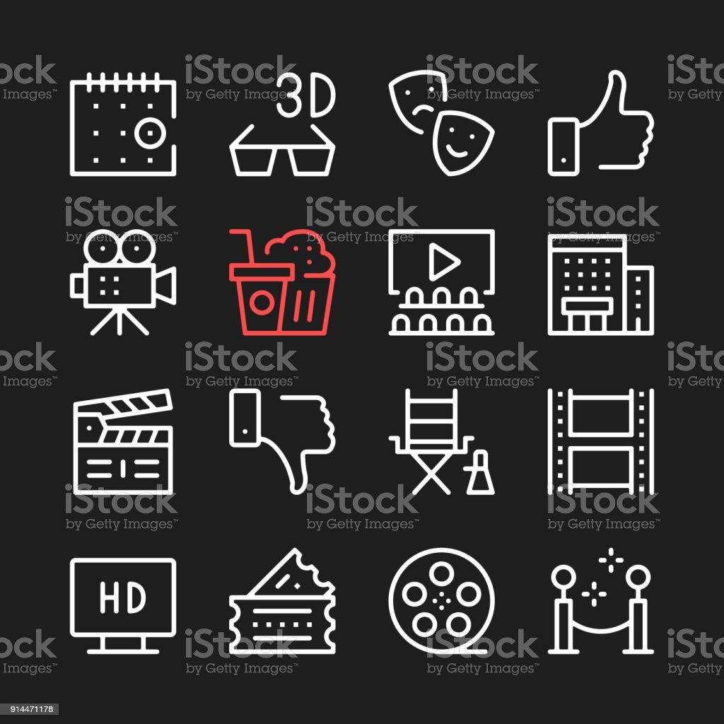 Film Filmproduktionsymbole Kinoikonen Moderne Grafische Elemente ...