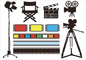 Movie & film set, vector