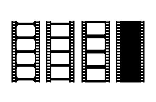 Movie film strip vector illustration