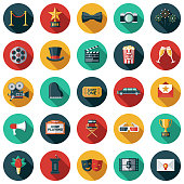 Movie Flat Design Icon Set