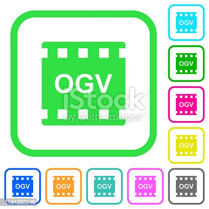 istock OGV movie format vivid colored flat icons 1154332246