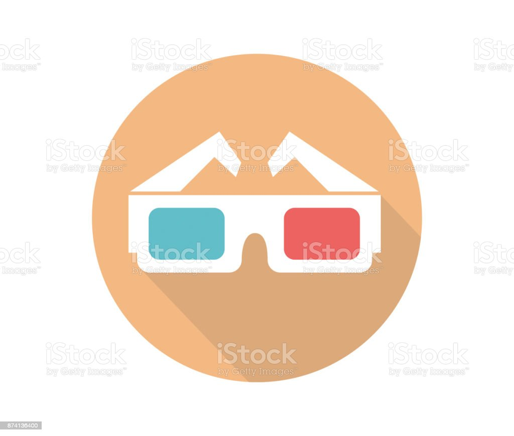 Lunettes 3D vector icone - Illustration vectorielle