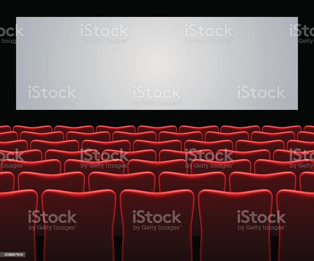 Movie hall vector art illustration