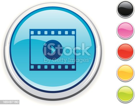 glossy movie icon, 5 other blank colour buttons included