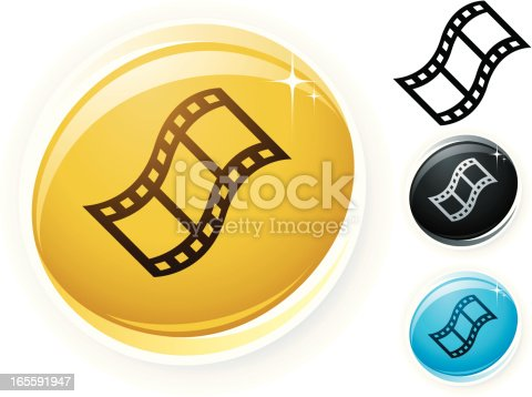 glossy movie icon, global colours are very simple to change