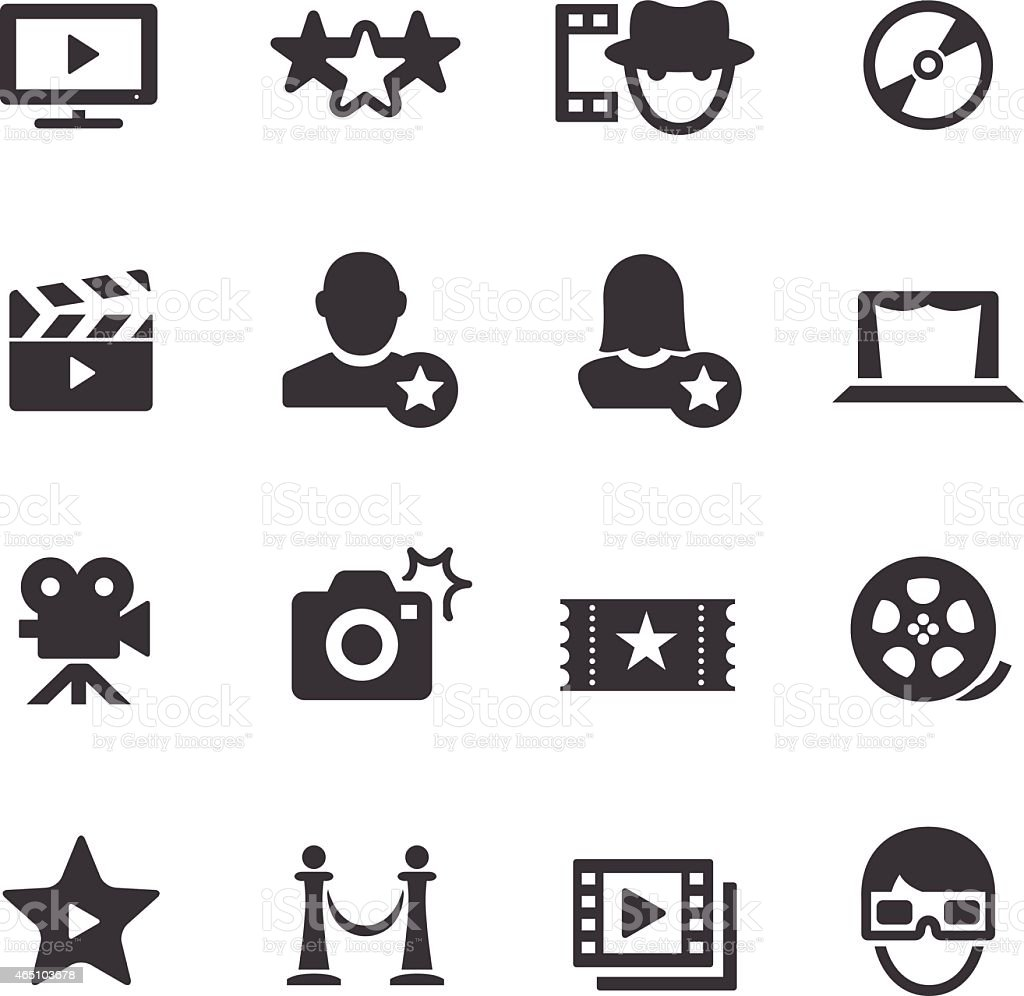 Movie Icons - Acme Series vector art illustration