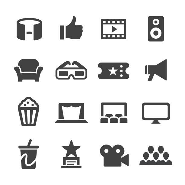 movie icons - acme series - oscars stock illustrations, clip art, cartoons, & icons