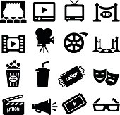 Movie, Film and Theatre icon set. Professional vector icons for your print project or Web site. See more in this series.