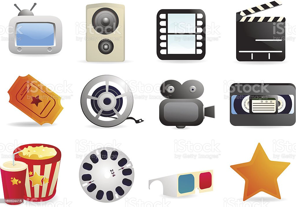 Movie Icons royalty-free movie icons stock vector art & more images of arts culture and entertainment