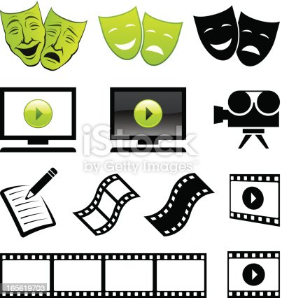 Various movie and drama icons
