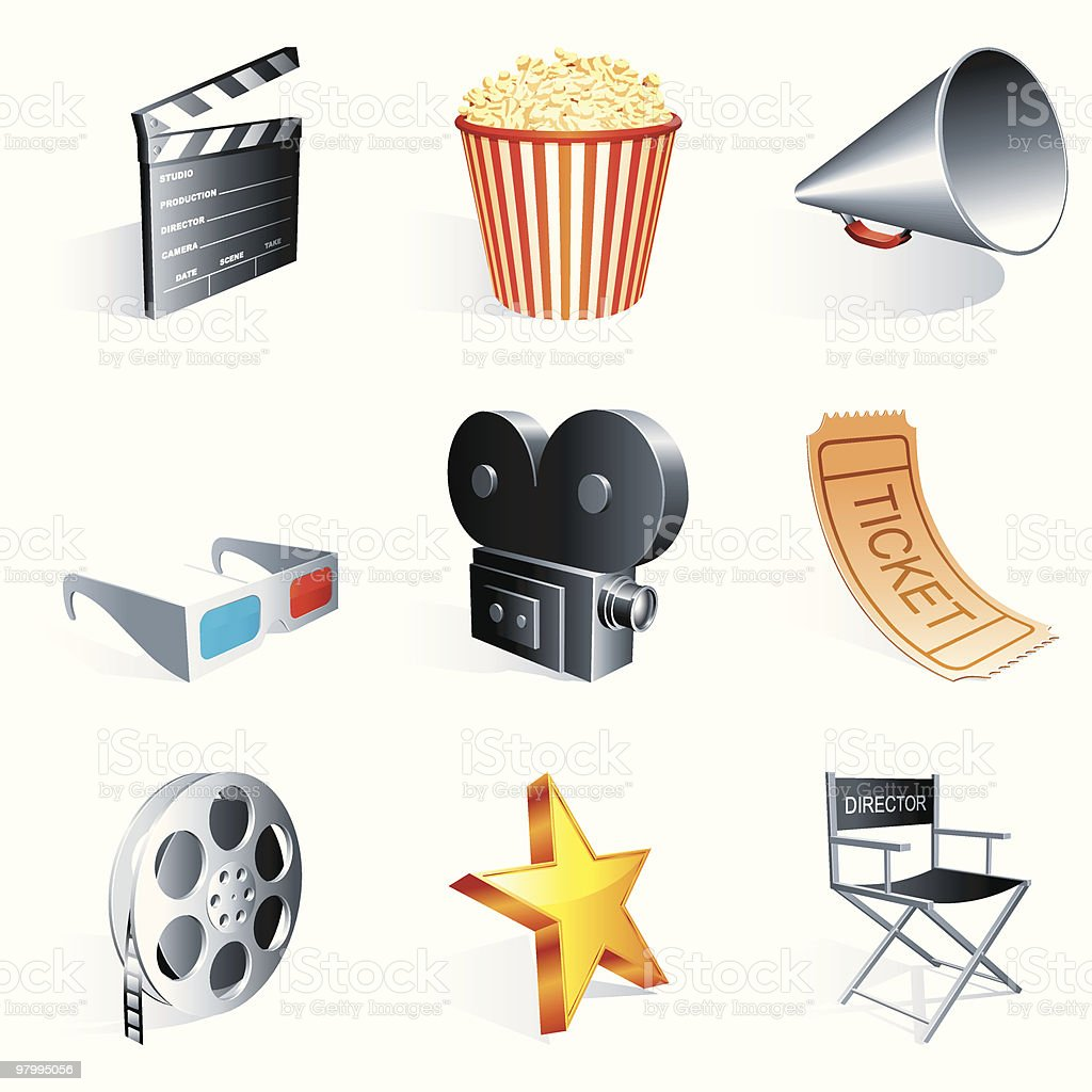 Movie icons. royalty free movie icons stockvectorkunst en meer beelden van apparatuur