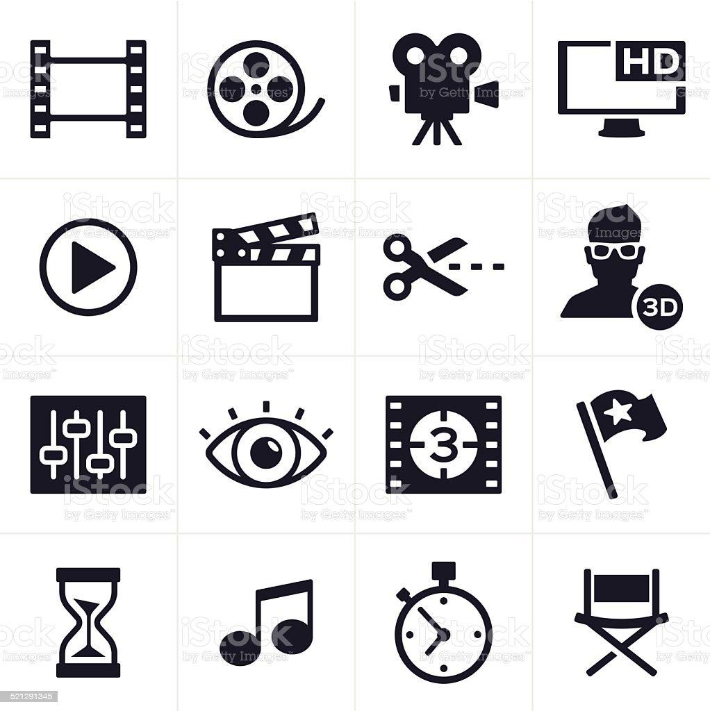 Film faire et Montage vidéo icônes - Illustration vectorielle