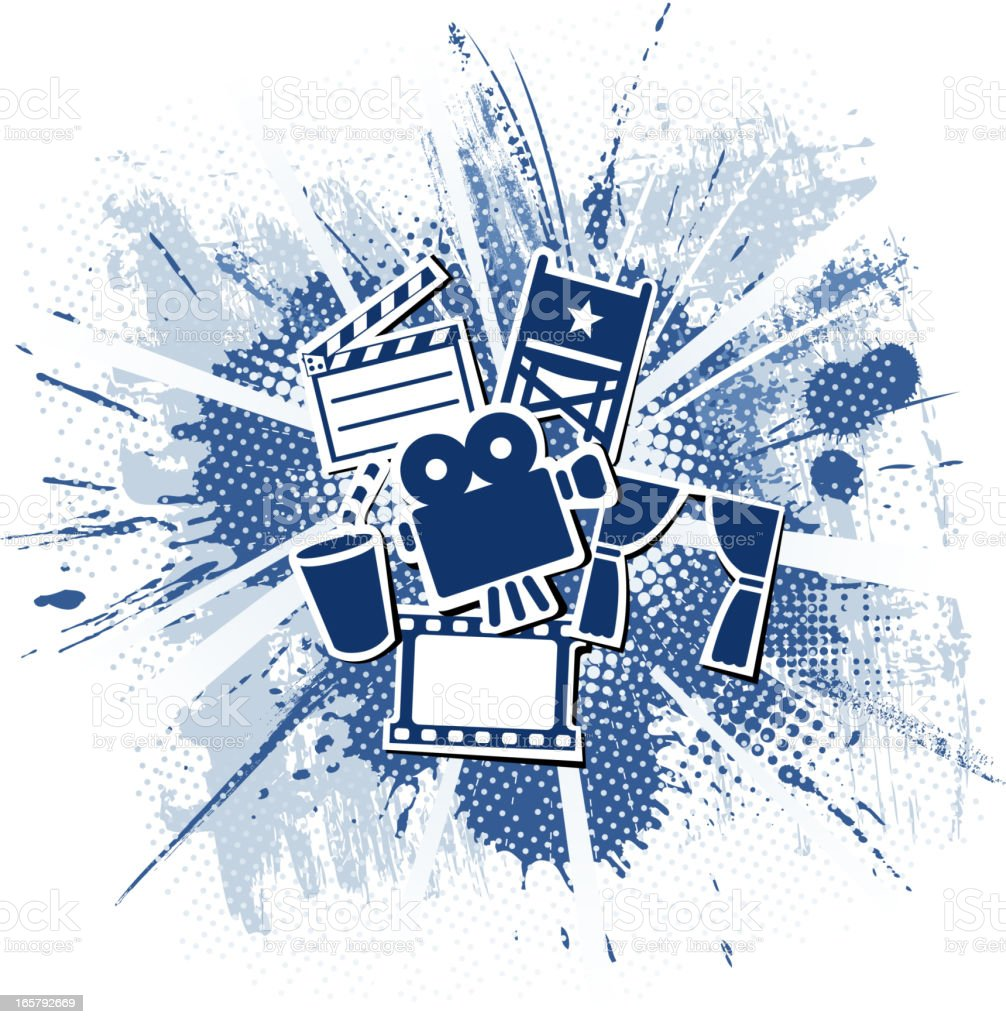 movie materials vector art illustration
