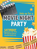 Movie Night Party Invitation Template