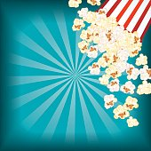 istock Movie Night Background With Popcorn 596053718
