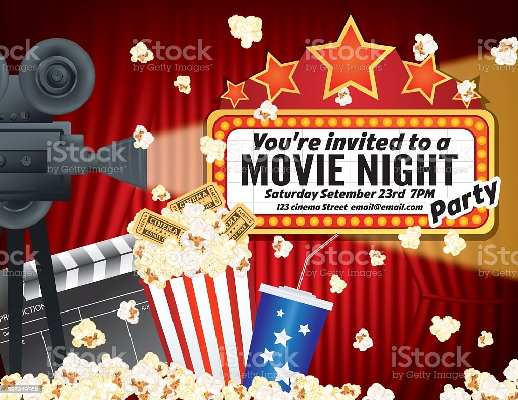 Marquee Hr | Free Images at Clker.com - vector clip art ...  |Movie Night Page Background