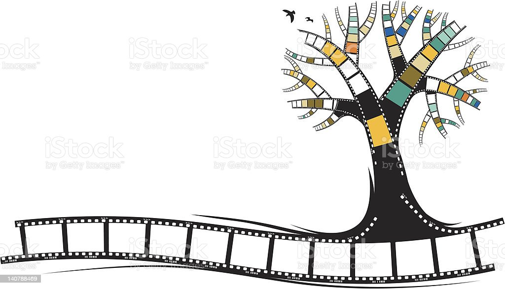movie or photography filmstrip tree royalty-free stock vector art