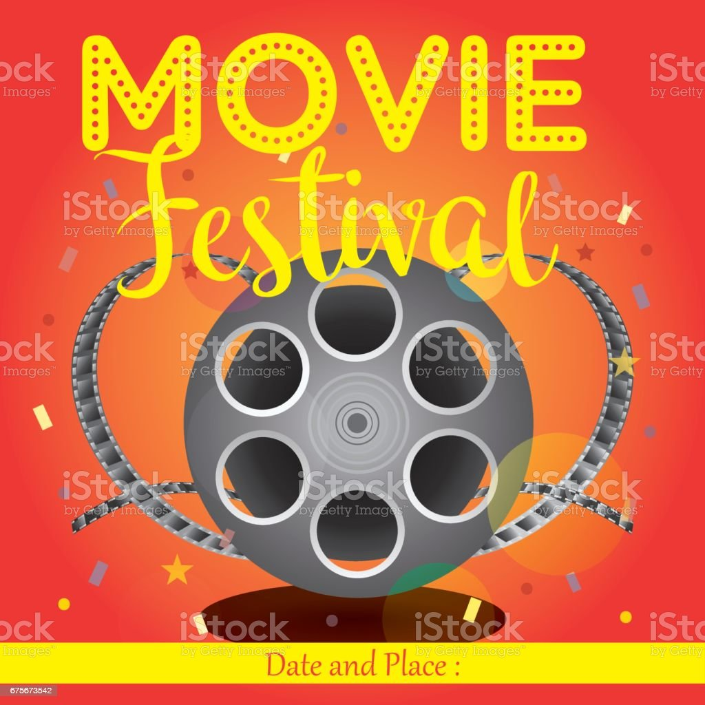 movie poster event for festival event banner brochure flyer template with date - Film Festival Brochure Template