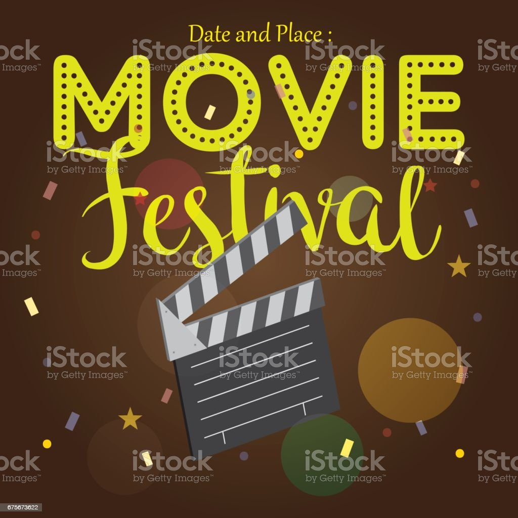 movie poster event for festival event banner brochure flyer template with date